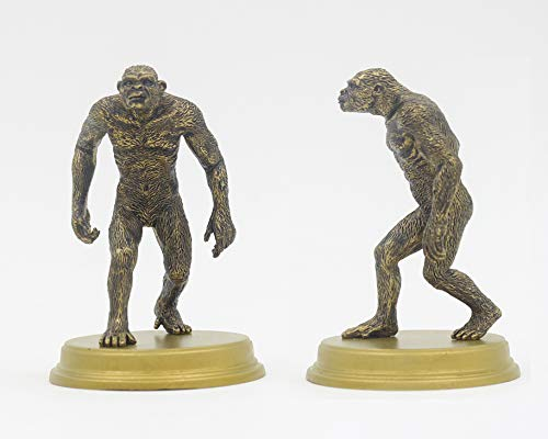 Ape Man 2 Sculpture Ornament Artwork The Origin Of Mankind Human Evolution Theory ApeMan Anthropozoic Doll Static Model Playing Toy,Ape Man