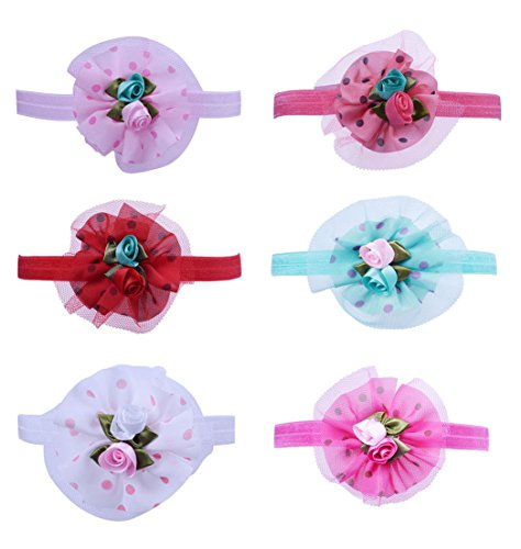 SUNNYTREE Baby Girls 6Pcs Headband Elastic Hair Bow Cute Turban Hairband - Felt Christmas Tutorial