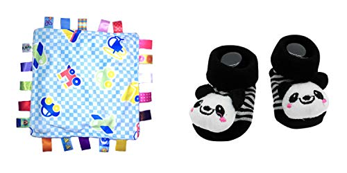 (New Cute Baby Kung Fu Panda & Little Taggie Vehicle Blanket Theme 2-Pack 3-12 Months w/Gift)