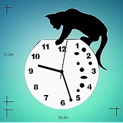 GuoEY Wall Clock Living Room Creative Personality Simple Acrylic Mute Wall Clock