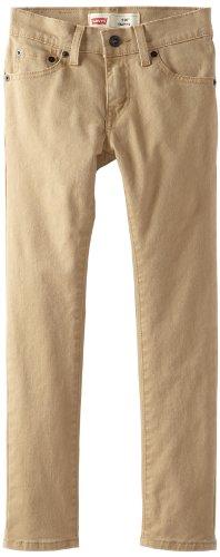 Levi's Boys' Big 510 Skinny Fit Jeans, British Khaki - Khaki Levi Jeans Skinny