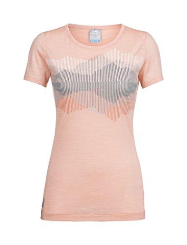 Reflected TT shirt Femme Crewe Ss Low Sphere Icebreaker Cook Sorbet Hthr lTK1FJc