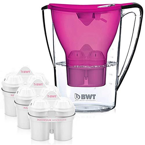 BWT Jarra de filtro de agua con 3 filtros de 60 días incluidos, galardonada calidad austriaca, tecnología para una...