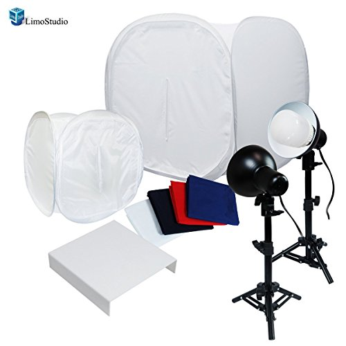 LimoStudio, AGG1263V2, 30'' Table Top Light Kit, Lighting Soft Box Photography Lighting Tent Kit, LED Lighting, Photo Light Set with Clamp and Acrylic Table by LimoStudio