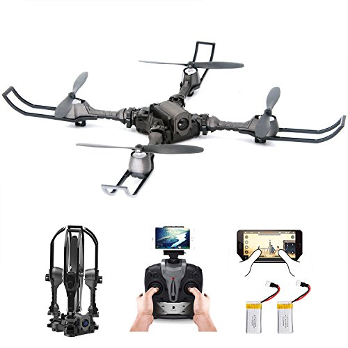 Mambo 2 Person (Mini RC FPV Quadcopter Drone - ROKKES i5 Parrot Drone With Camera, 720P HD Live Video, WiFi 2.4GHz 4CH 6-Axis Gyro, Parrot Drone with Altitude Hold, One Key Return and Headless Mode Function RTF)