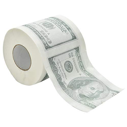 (Tissue Boxes - Funny America Us Dollars Tissue Novelty 100 Tp Money Roll Gag Gift One Hundred Dollar Bill Printed - Toilet Paper Napkins Tissues Tissue Novelty Roll)