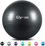 Glymnis Exercise Ball 55cm 65cm 75 cm Anti Burst Slip Resistant Yoga Ball Workout Ball Swiss Ball Birthing Bal