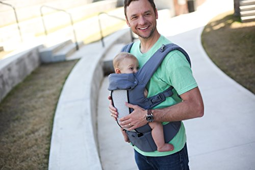 Beco 8 Baby Carrier, Dark Grey Cotton, All Seasons Ergonomic Baby Carrier Comes Complete with Infant Insert, Removable Lumbar Support, 360° of Comfort for Parent and Child