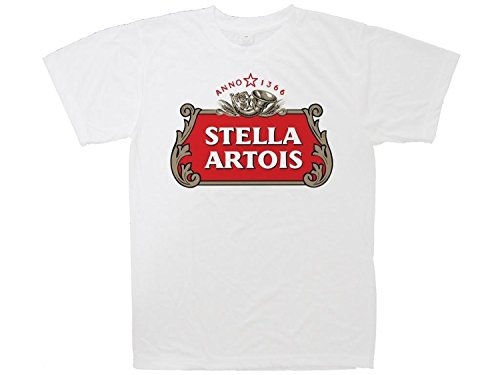 HT Galush Prints Men's T-Shirt, 100% Cotton - Stella Artois Beer Print L (Heineken Shirt)