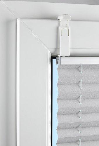 Falzfix - Klemmträger für die Montage von Plissees in der Glasleiste ohne Bohren - (4 Stück)