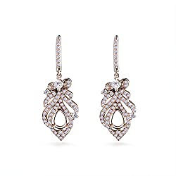 Women's Rose Gold Diamond Semi Mount Earring