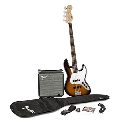 Fender Squier J Bass Guitar Pack - Sunburst (15w Bass Amp)