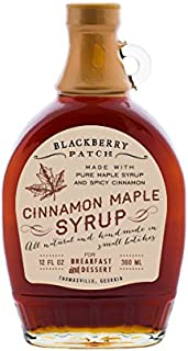 product image for Blackberry Patch Cinnamon Maple Syrup Contains Sugar All Natural Handmade In Small Batches   For breakfast pancakes and waffles or drizzled over fresh fruit 12 FL oz. (Cinnamon Maple12 Ounce)