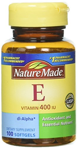 Nature Made Vitamin E 400, IU Softgels, 100 ct (Pack of 2)
