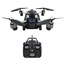 RC Flying Quadcopter Tank H40WH 2-in-1 FPV WiFi Drone Headless Mode with 720P Camera Altitude Hold 4-axis Aircraft Ground Running Air Flying Built-in USB Battery for JJRC