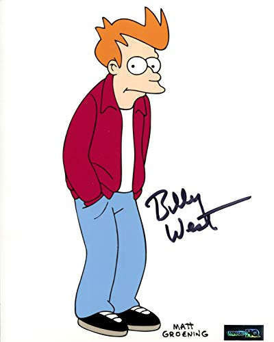 Billy West Signed/Autographed 8x10 Glossy Photo as Fry from Futurama. Includes FaneXpo HQ Certificate of Authenticity and Proof of signing. Entertainment Autograph Original. Philp J Fry, -