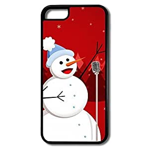MMZ DIY PHONE CASEiphone 6 plus 5.5 inch Cases Snowman Sing Design Hard Back Cover Shell Desgined By RRG2G