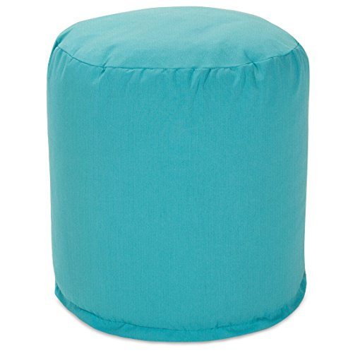Majestic Home Goods Pouf, Small, Teal by Majestic Home Goods