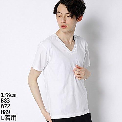 Tシャツ ジャパンフィット Vネック 2枚組 H5115 メンズ