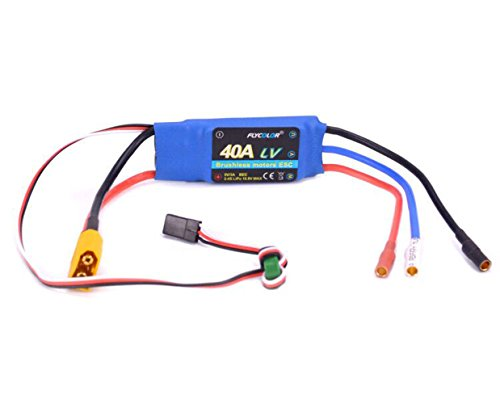 2-4S 40A ESC Brushless 40apm Speed Controller With UBEC 5V/3A with XT60 & 3.5mm Bullet (40a Brushless Electric Motor)