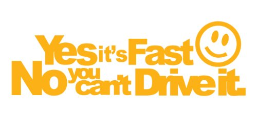 Vw Rieger Golf - Yes its fast no you cant drive it Decal Size:7,9x 2,5