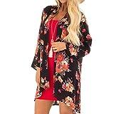 Pandaie Women Jacket,Feitong Women Summer Plus Size Beach Floral Chiffon Kimono Cardigans Cover Ups