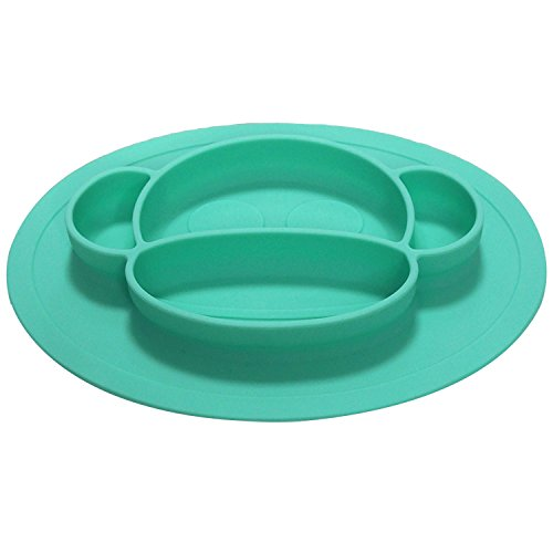 Bambini & ME Children's Placemats- Soft, Flexible Silicone Food Tray - Dinner Mats for Babies and Toddlers - Dishwasher Safe - Round by Bambini & ME (Image #1)