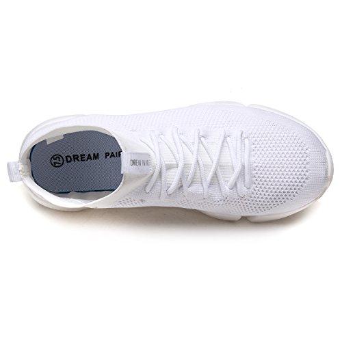 Paires De Rêve Mens 170844m Léger Respirant Mode Sneakers Sport Chaussures De Marche 170845-blanc