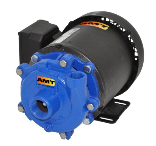 "AMT Pump 369B-95 Straight Centrifugal Pump, Cast Iron, 1-1/2 HP, 3 Phase, 230/460V, Curve G, 1-1/4"" NPT Female Suction, 1"" NPT Female Discharge Port"