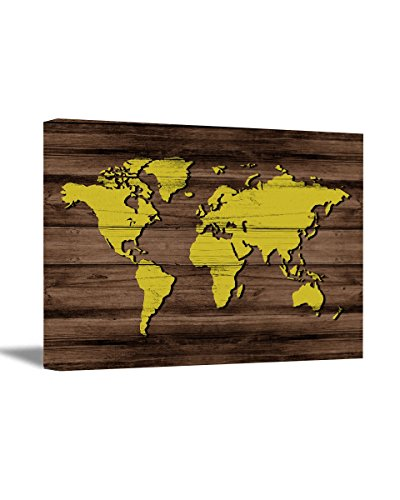 Awkward Styles Map of the World Canvas World Map Wall Art Wo