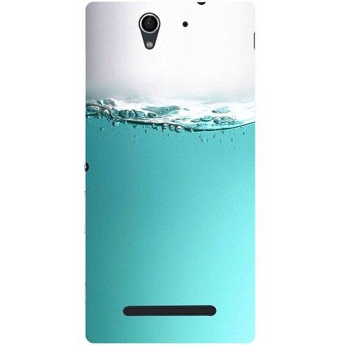 Casotec Half Fill Design 3D Hard Back Case Cover for Sony Xperia C3