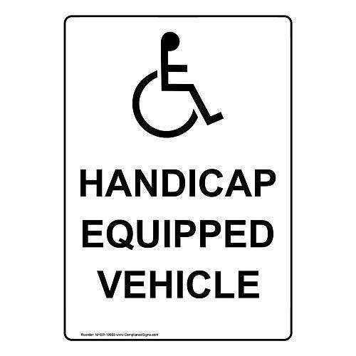 SEBASTIAN WOODS Waterproof and uv Proof ADA Handicap Equipped Vehicle Warning Signs 8 x 12 tin Signs