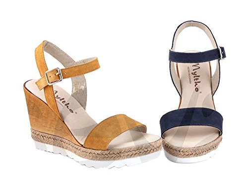 Myltho 187309 - Zapato Señora Piel - 38, Marino
