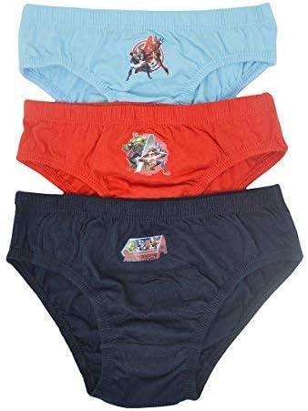 Aumsaa Ragazzi E Bambini Personaggi 100/% Slip di Cotone Intimo Sottoveste Pantaloni Confezione da 3