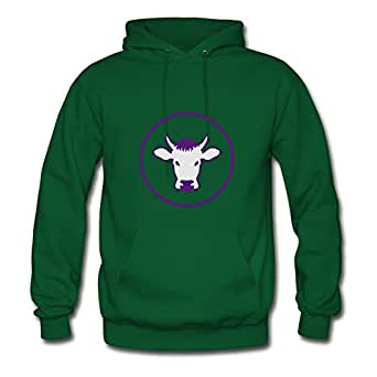 Evanvaughn Customized Women Cow Hoodies - Cow Print In X-large