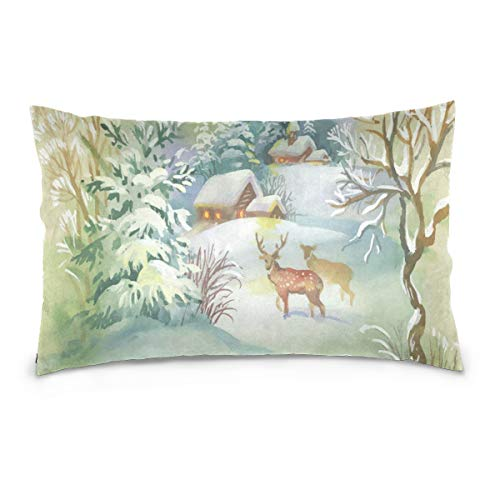 Rachel Dora Christmas Moose Cotton Pillowcase 20 x for sale  Delivered anywhere in USA
