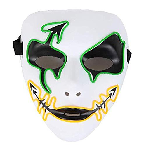 FUNISFUN EL Wire Mask, Halloween Costume LED Neon