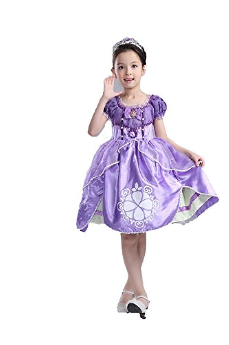 [해외] 프린세스 변신(나리키리) 아이 드레스 키즈 아이 공주님 원피스 공주님 드레스 소녀 변신(나리키리) 키즈 드레스 # 리틀 프린세스 소피어 (140사이즈)