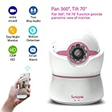 Sumpple Digital Video Baby Monitor with HD Camera 720P, Wired/Wireless WiFi Connection, Two-Way