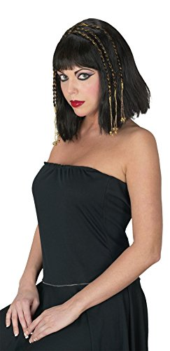 UHC Womens Adult Egyptian Queen Wig With Braids Halloween Costume Accessory (Egyptian Halloween Accessories)