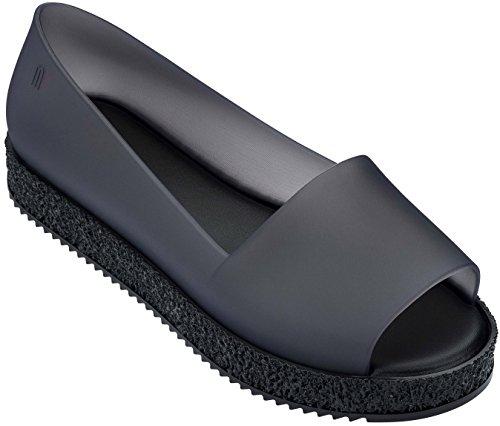 Melissa Puzzle Peep Women's Toe Smoke Flats r7f107nvx
