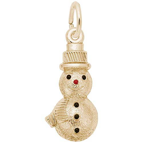 Rembrandt Charms Snowman Charm, 14K Yellow Gold