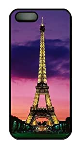Eiffel Tower At Night Paris France Hard Plastic Case for iPhone 5/5S Black