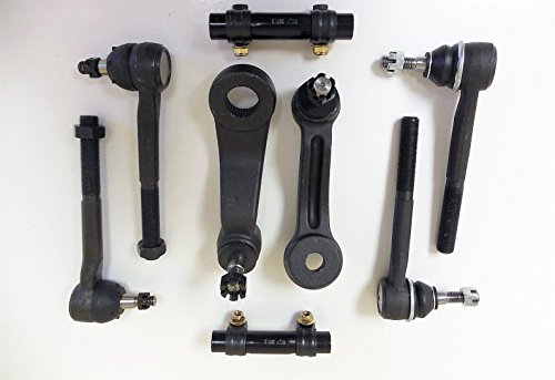 Front End Kit 8 pcs. 2 Inner 2 Outer Tie Rod Ends 2 Adjusting Sleeves 1 Pitman Arm 1 Idler Arm 4WD vehicles Only