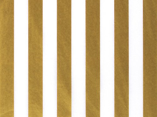 Gold Metallic Stripe Tissue Paper 240~20''x30'' Sheets Tissue Prints (240 Sheets) - WRAPS-P347 by Miller Supply Inc