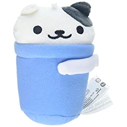 Neko Atsume Plush | Bucket Cat - Spots | Kawaii Cat Plushies 4