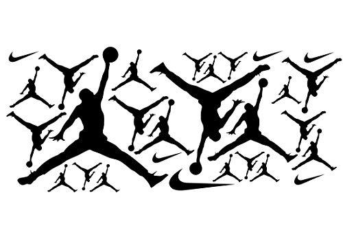 Jordan Party Theme - 19 Assorted Black Air Jordan -
