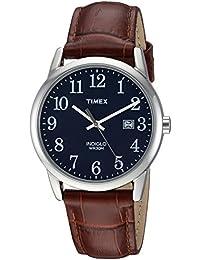Men's TW2R63800 Easy Reader 38mm Brown/Blue Croco Pattern Leather Strap Watch