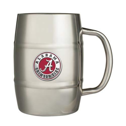 1pc, Pewter University of Alabama Barrel Mug ()