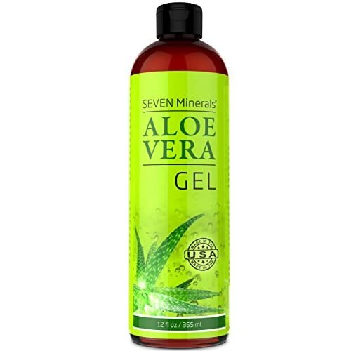 Organic Aloe Vera Gel with 100% Pure Aloe from FRESHLY CUT Aloe Plant, not